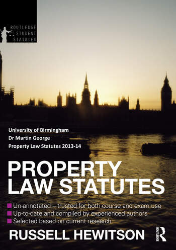 Property Law Statutes book cover