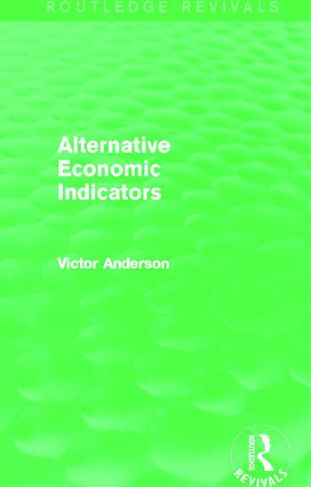 Alternative Economic Indicators (Routledge Revivals) book cover