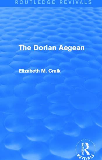 The Dorian Aegean (Routledge Revivals) book cover