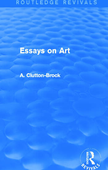 Essays on Art (Routledge Revivals) book cover