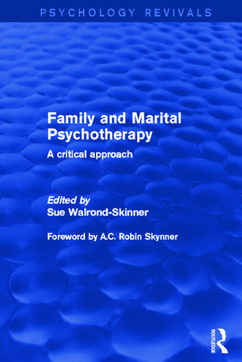 Family and Marital Psychotherapy A Critical Approach book cover