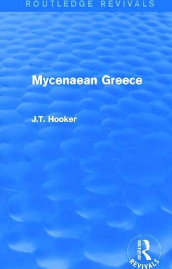 Mycenaean Greece (Routledge Revivals) book cover