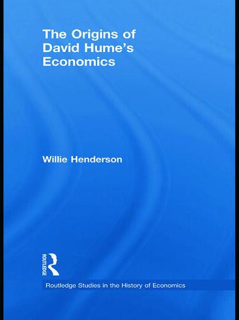 The Origins of David Hume's Economics book cover