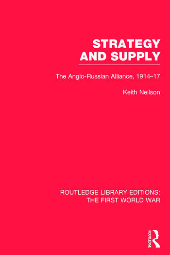 Routledge Library Editions: The First World War book cover