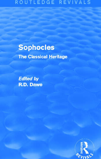 Sophocles (Routledge Revivals) The Classical Heritage book cover
