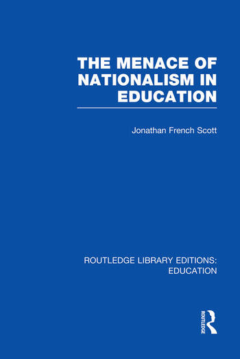 The Menace of Nationalism in Education book cover