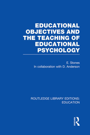 Educational Objectives and the Teaching of Educational Psychology book cover