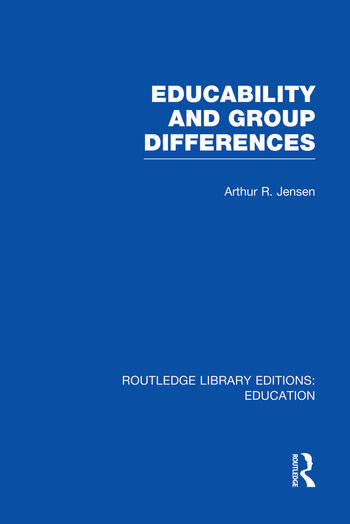 Educability and Group Differences book cover