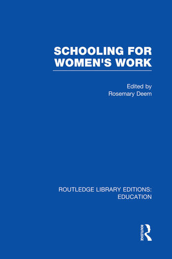 Schooling for Women's Work book cover
