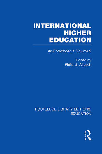 International Higher Education Volume 2 An Encyclopedia book cover
