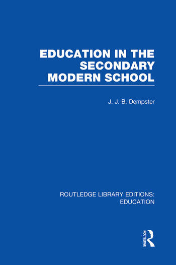 Education in the Secondary Modern School book cover