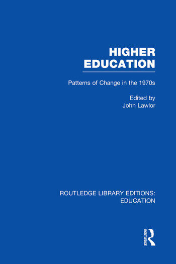Higher Education Patterns of Change in the 1970s book cover