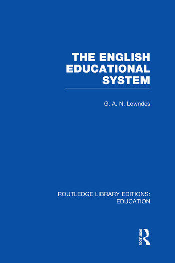 The English Educational System book cover