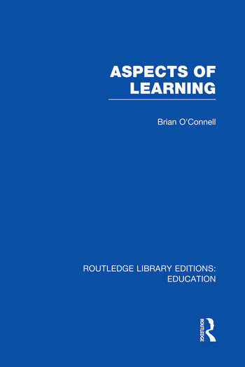 Aspects of Learning (RLE Edu O) book cover