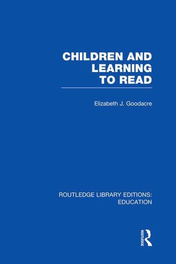 Children and Learning to Read (RLE Edu I) book cover