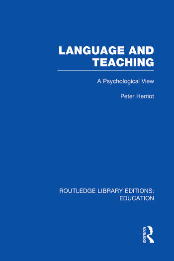 Language & Teaching A Psychological View book cover
