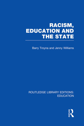 Racism, Education and the State book cover