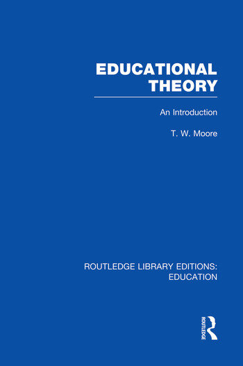 Educational Theory (RLE Edu K) An Introduction book cover