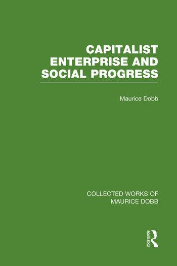 Capitalist Enterprise and Social Progress book cover