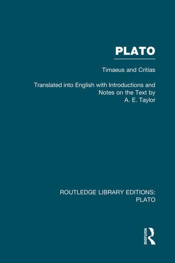 Plato: Timaeus and Critias (RLE: Plato) book cover