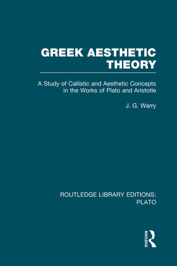 Greek Aesthetic Theory (RLE: Plato) book cover