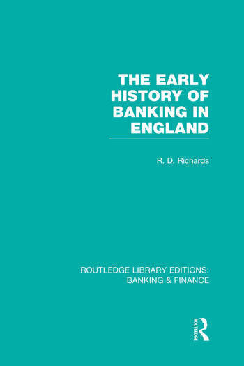 The Early History of Banking in England (RLE Banking & Finance) book cover