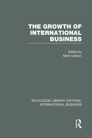 The Growth of International Business (RLE International Business) book cover