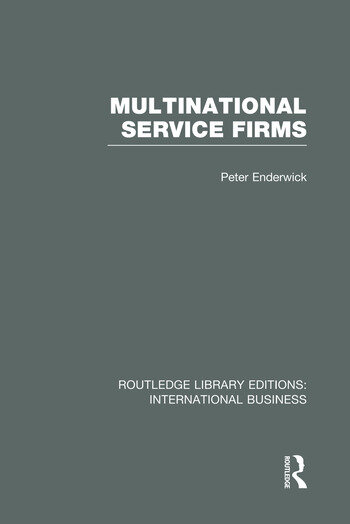 Multinational Service Firms (RLE International Business) book cover