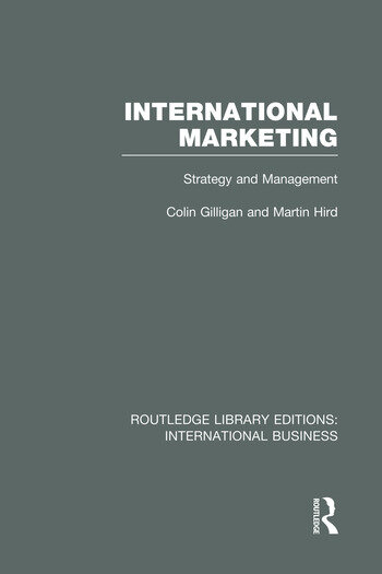 International Marketing (RLE International Business) Strategy and Management book cover