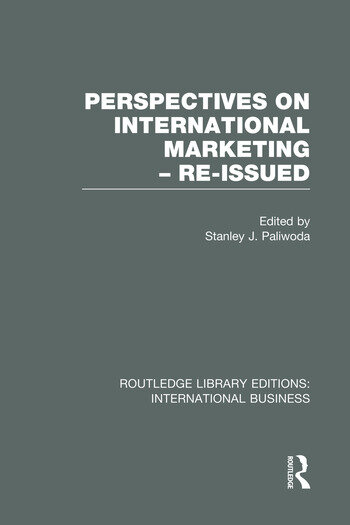 Perspectives on International Marketing - Re-issued (RLE International Business) book cover