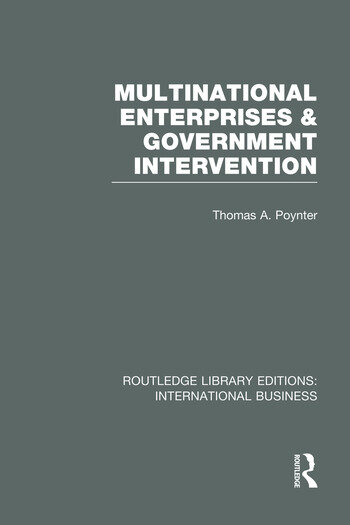 Multinational Enterprises and Government Intervention (RLE International Business) book cover