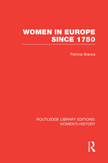 Women in Europe since 1750 book cover