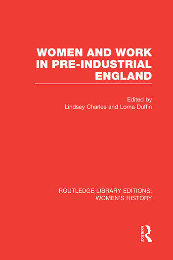 Women and Work in Pre-industrial England book cover