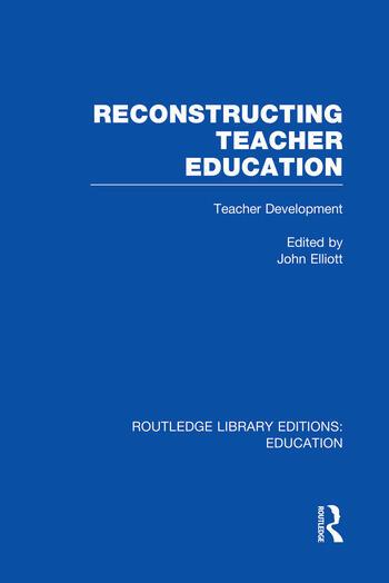 Reconstructing Teacher Education (RLE Edu N) book cover