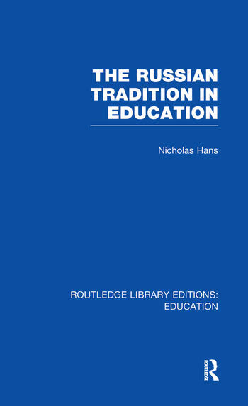 The Russian Tradition in Education book cover