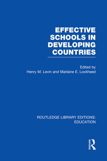 Effective Schools in Developing Countries book cover