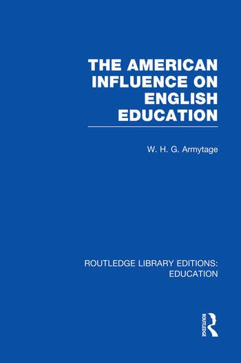 American Influence on English Education book cover