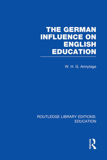 German Influence on English Education book cover
