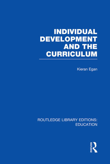 Individual Development and the Curriculum book cover