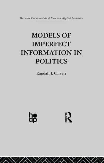 Models of Imperfect Information in Politics book cover