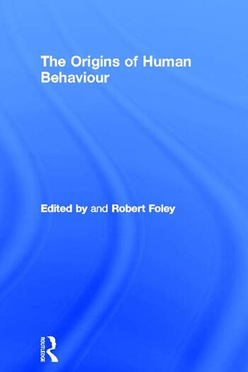 The Origins of Human Behaviour book cover