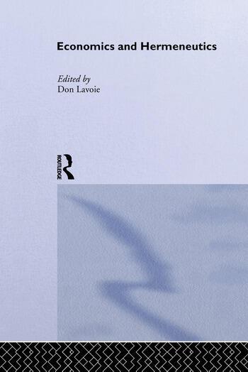 Economics and Hermeneutics book cover