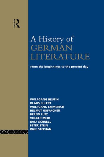 A History of German Literature From the Beginnings to the Present Day book cover