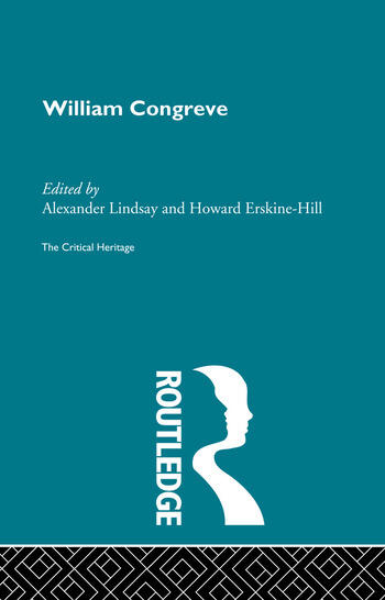 William Congreve The Critical Heritage book cover
