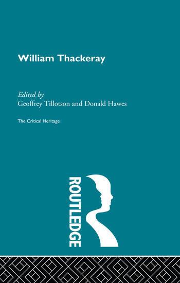 William Thackeray The Critical Heritage book cover
