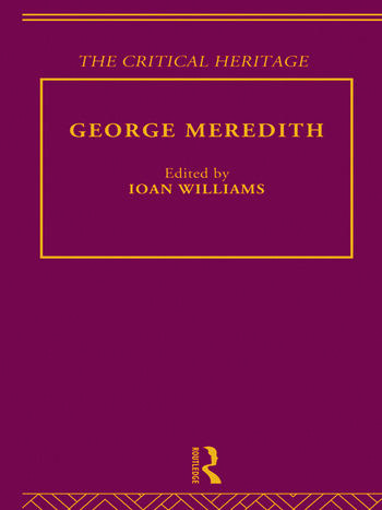 George Meredith The Critical Heritage book cover