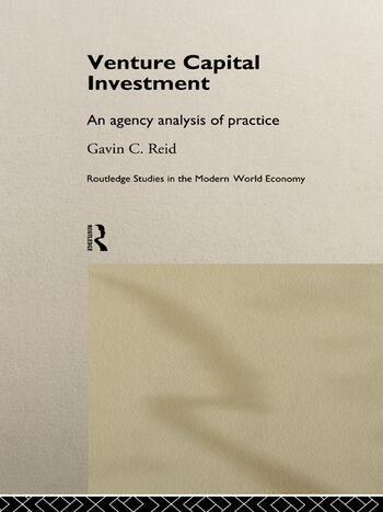Venture Capital Investment An Agency Analysis of UK Practice book cover