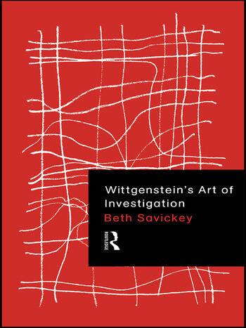 Wittgenstein's Art of Investigation book cover