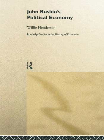 John Ruskin's Political Economy book cover