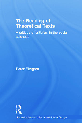 The Reading of Theoretical Texts book cover